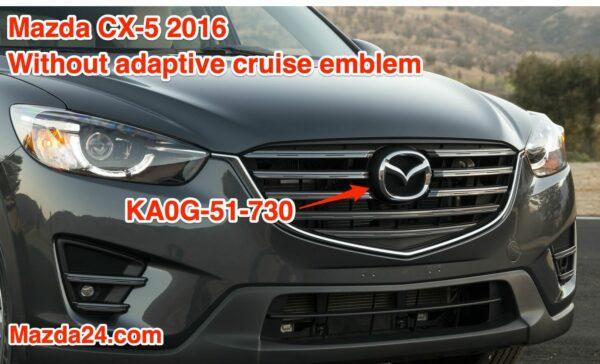 KA0G51730 – Front grille badge front logo emblem Mazda CX-5, CX-9