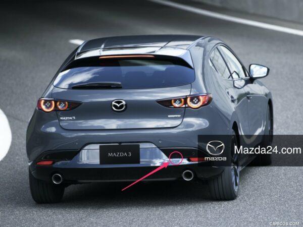 BCKN50EK1 - Rear bumper towing hook cover right Mazda 3 BP hatchback