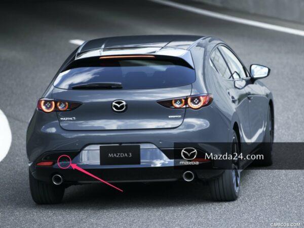 BCKN50EL1 - Rear bumper towing hook cover left Mazda 3 BP hatchback