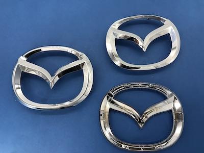 Genuine Mazda front grille emblems for major Mazda models