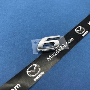 "GHK151721 - Mazda 6 sedan (2013-2017) trunk lid badge model number ""6"""