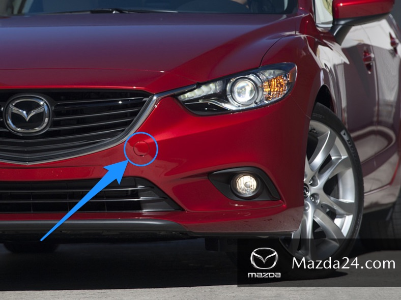 Front bumper tow hook covers (without LED light)