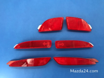 Genuine Mazda rear bumper reflectors