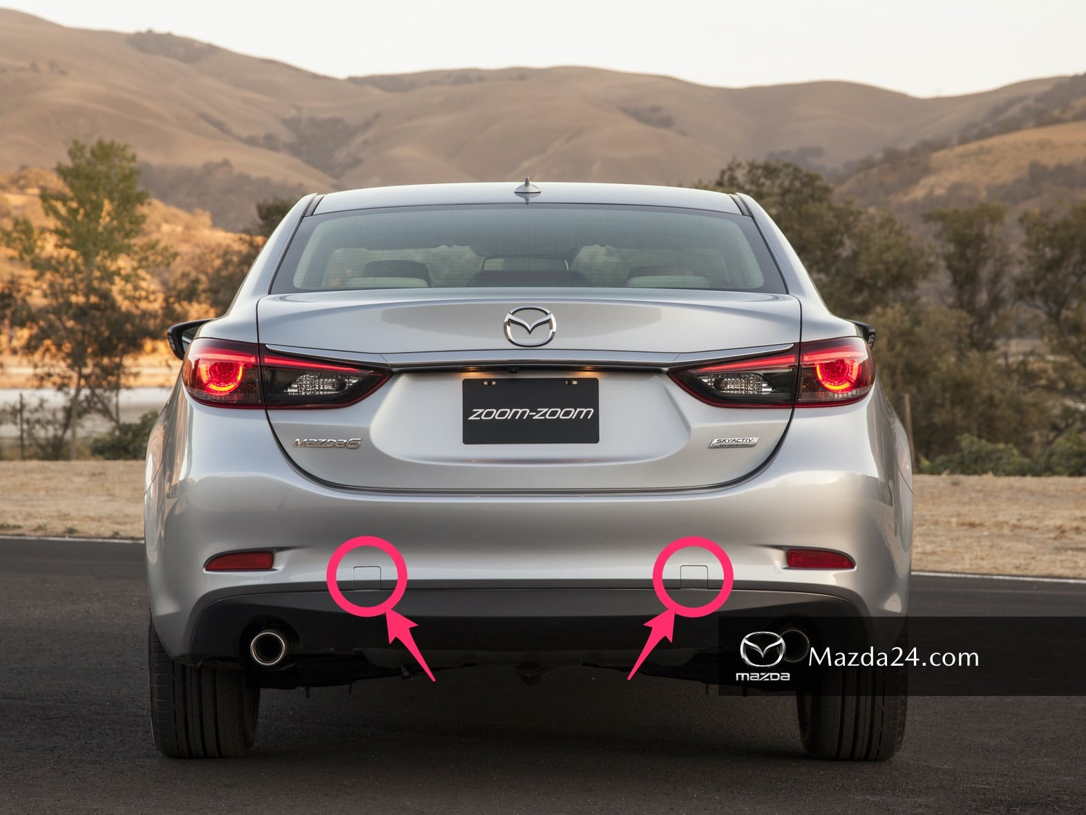 Mazda 6 (2012-2017) rear bumper tow hook covers